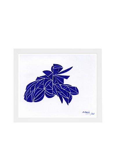 Manuel Roman Transcendence Framed Art, Blue/White