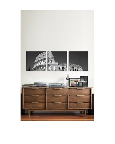 Coliseum Panoramic Giclée Canvas Print Triptych