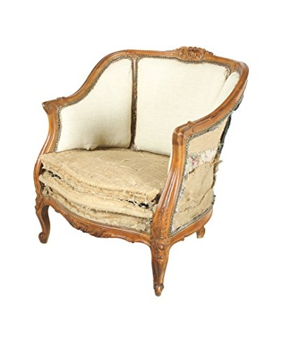 Deconstructed Louis XVI Chair, Brown/Cream/Tan