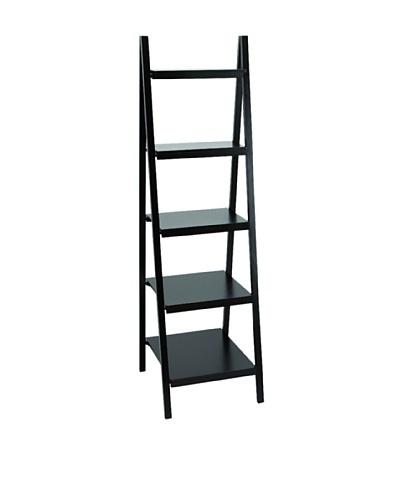 Wood Leaning Shelf, Black