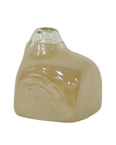 Ivory Glass Square Vase