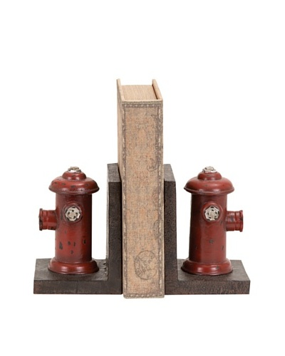 Set of 2 Fire Hydrant Bookends