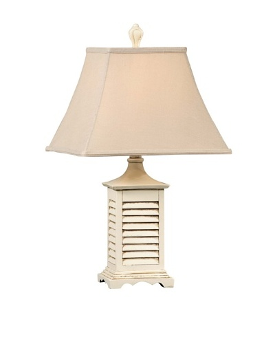 Seaside Accent Lamp, Gray-Washed White