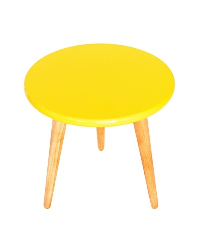 High Lacquer Stool, Yellow