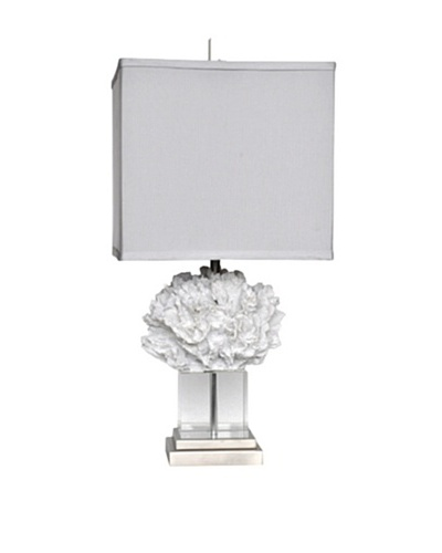 Coral Palace Table Lamp, White Coral/Crystal