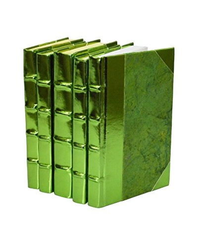 Set of 5 Metallic Collection Books, Green