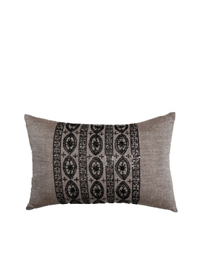 Travertine Edge Rectangle Pillow, Brown/Black, 12 x 18