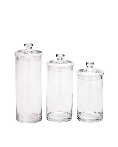 Set of 3 Glass Jars
