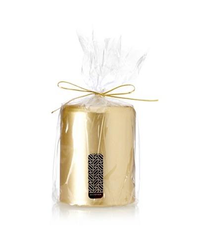 Satin Pillar Candle, Gold, 3 x 4