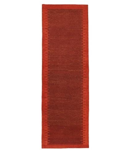 Hand-knotted Gabbeh Modern Rug, Dark Red, 2' 9 x 8' 6 Runner