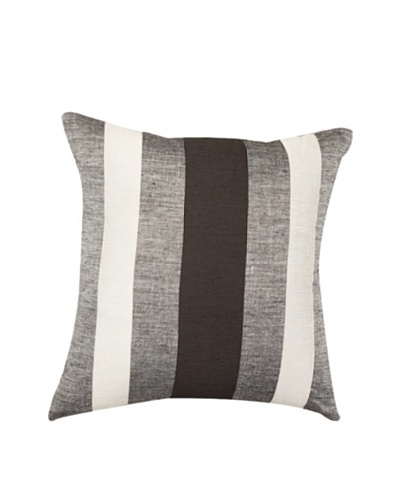 "Cage Steele Pillow, Black/Grey/White, 18"" x 18"""