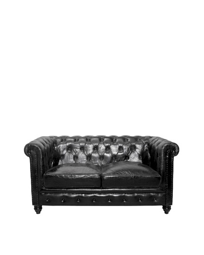 Chesterfield Loveseat, Raven Black