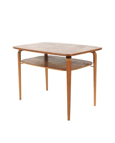 Mid-Century Modern Swedish Side Table, Brown