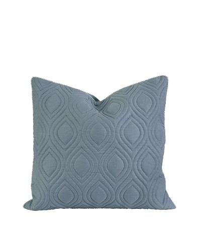 IK Kavita Blue Linen Quilted Pillow