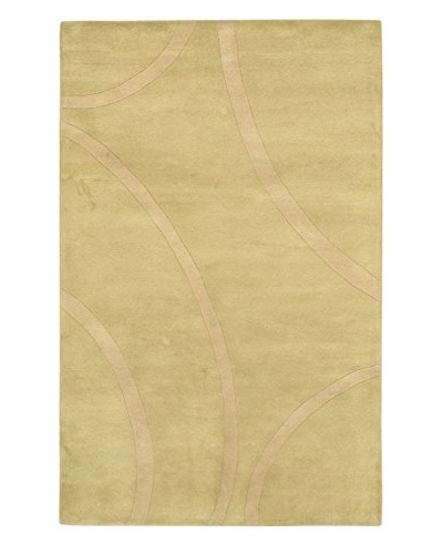 Handmade Impulse Rug, Beige/Light Green, 5' x 8'