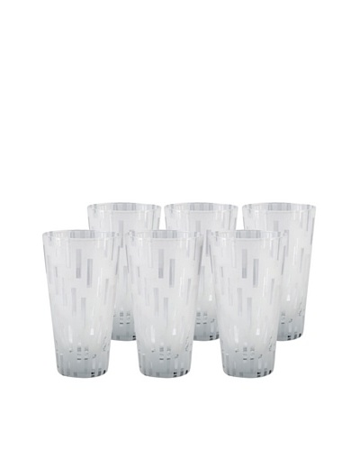 Set of 6 Urban Water Glasses