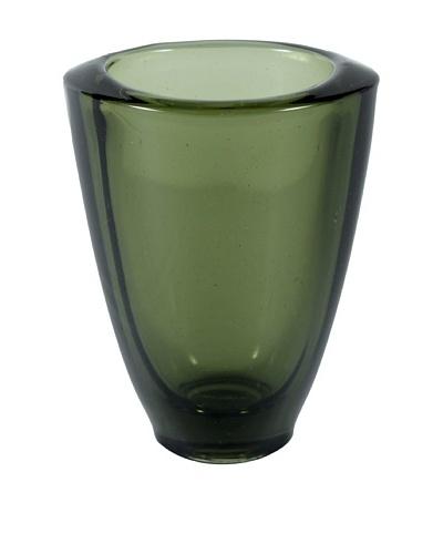 Aero Vintage Art Glass Vase, Green