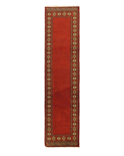 Hand-knotted Finest Peshawar Bokhara Traditional Runner Wool Rug, Red, 2' 7 x 10' 5 Runner