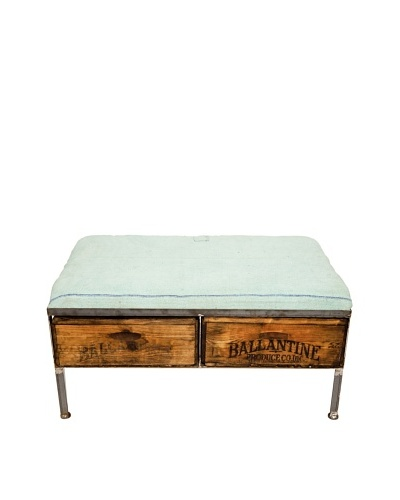 Muette Two-Drawer Repurposed Crate Storage Bench