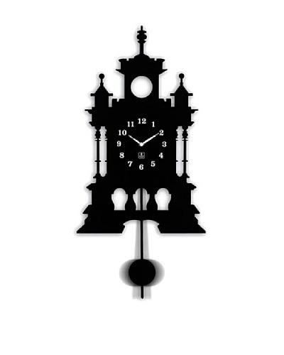 Metal Pendulum Wall Clock, 11.25 x 23.