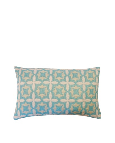 Motif Throw Pillow, Aqua