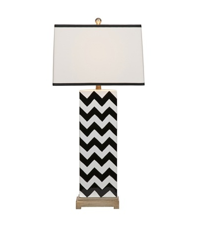 Chandler Black Chevron Lamp