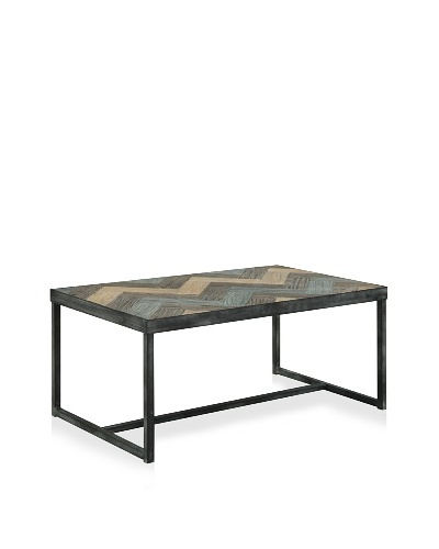 Marin Coffee Table, Antique Black/Green/Old Elm