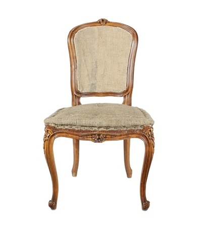 Deconstructed French Hall Chair, Brown/Tan