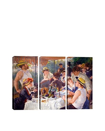 Pierre-Auguste Renoir The Luncheon Of The Boating Party 1881 3-Piece Canvas Print