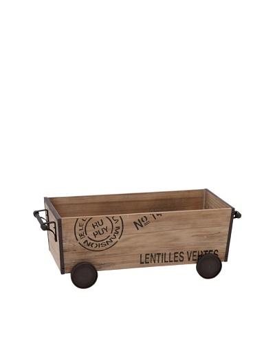 Repurposed Wood Crate Cart