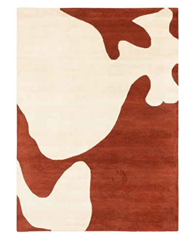 Handmade Eden Rug, Cream/Dark Copper, 5' x 7'