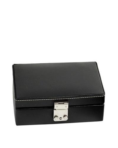 Leather Travel Jewelry Storage, Black