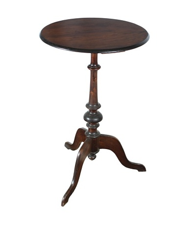 Maple Pedestal End Table, Brown