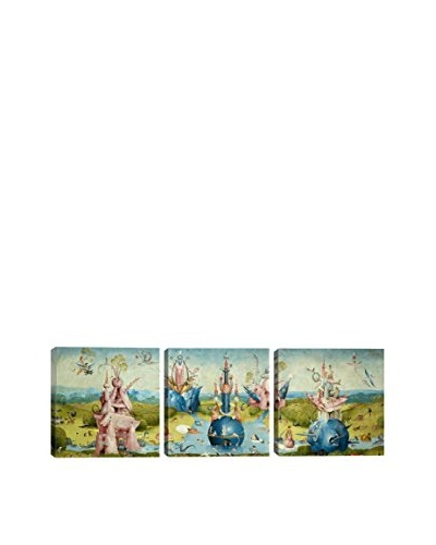 Hieronymus Bosch Top Of Central Panel From The Garden Of Earthly Delights Ii (Panoramic) 3-Piece Can...