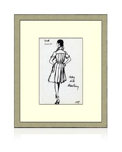 Print of Venet Women's Fashion Sketch Circa 1968