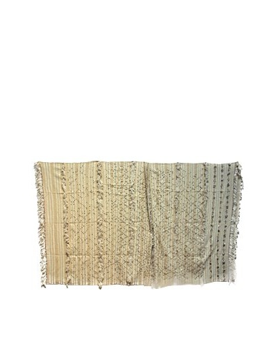 Vintage Berber Wedding Rug, Creme/Silver, 6' 1 x 10' 6
