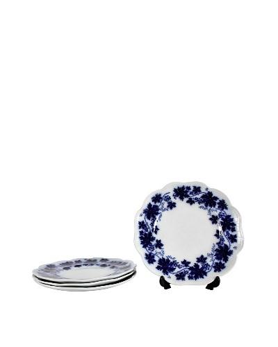 Set of 4 Flow Blue Vinranka Salad Plates