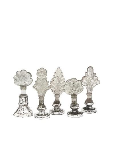 Set of 5 Laila Glass Finials