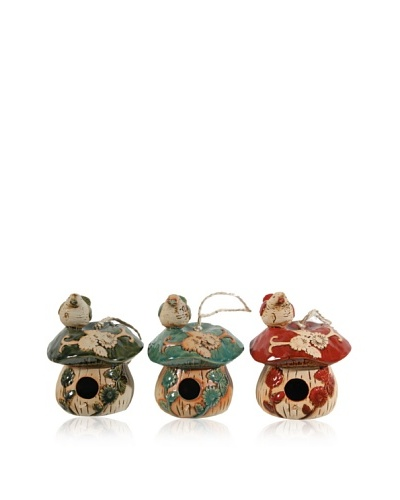 Set of 3 Bird Houses