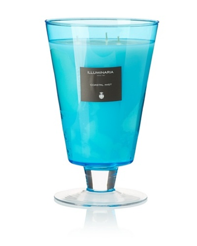 Illuminaria Wax Filled Vase Candle Jar, Aqua Coastal Mist, 55 Oz.