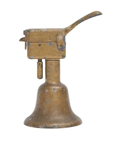 Vintage Circa 1920 Bell-Shaped Brass Cigar Lighter