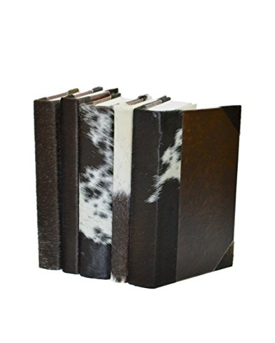 Set of 5 Western Collection Jersey Cow Books, Brown/Cream/Black