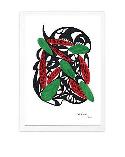 Manuel Roman Watermelon Still Life Framed Art, Multi