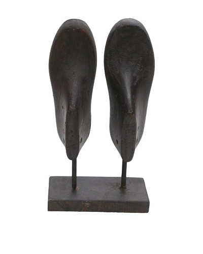 Double Shoe Mold, Ebony Vertical