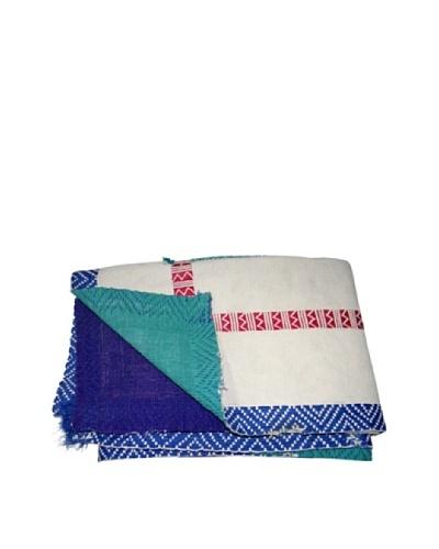 Vintage Lalima Kantha Throw, Multi, 60 x 90