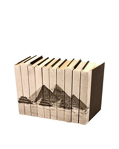 Set of 10 Image Collection Pyramids Books, Blue/Grey
