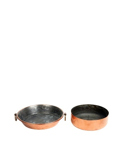 Pair of Copper Bowls