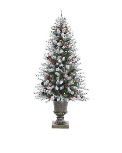4.5 Pre-Lit Frosted Pinecone & Berry Tree