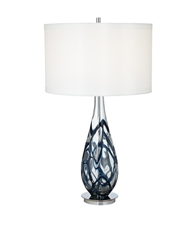 Indigo Art Glass Table Lamp