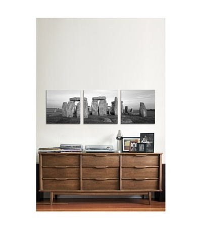 Stonehenge Panoramic Giclée Canvas Print Triptych